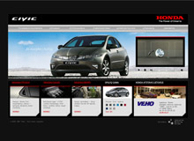 Honda Civic // Website design
