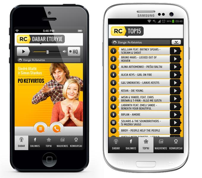 Radiocentras application